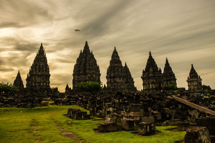 Prambanan ruins, a UNESCO site in Yogyakarta Prambanan temple is characterized by its tall and pointed architecture. Historians suggest that the construction of Prambanan probably was meant to mark the return of the Hindu Sanjaya Dynasty to power in Central Java.